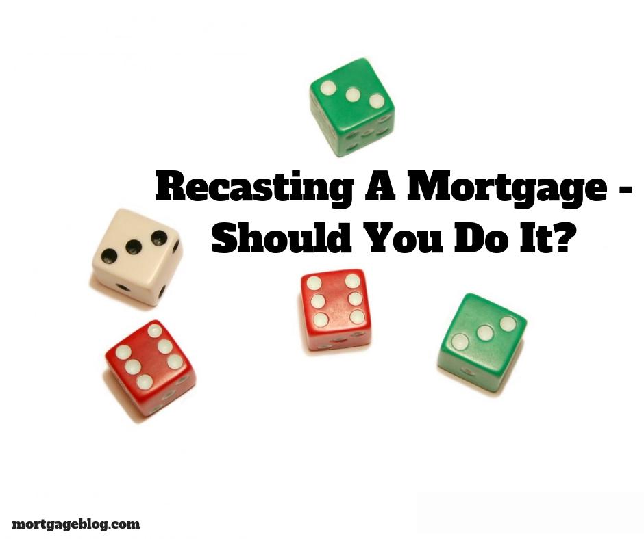 Recasting a Mortgage image