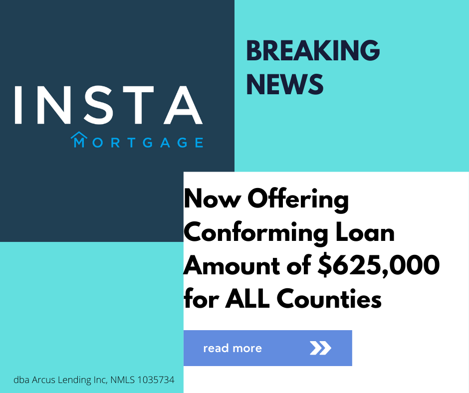 2021 Conforming Loan Limit Increased